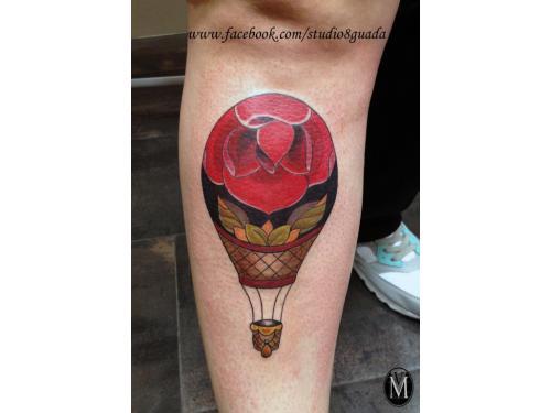 Tatuaje Globo aerostatico