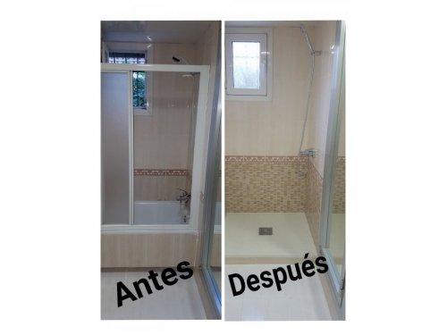 Sustitucion de Bañera por plato de ducha.