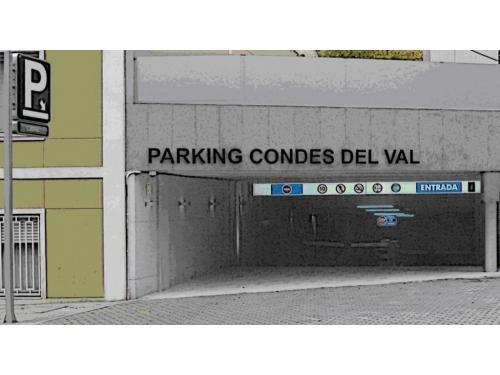 Entrada al Parking Condes del Val desde Paseo de la Habana