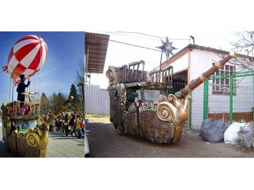 Realización y decoración de carrozas para eventos, desfiles, cabalgatas, fiestas patronales