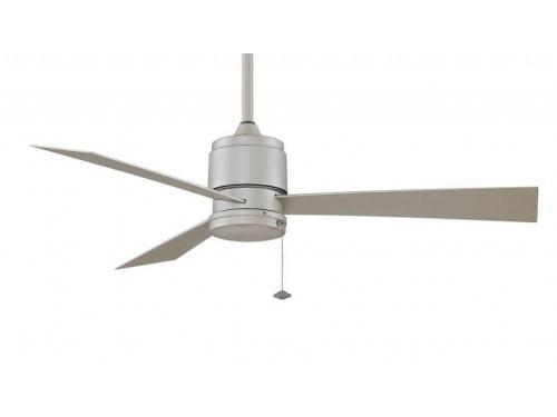 CASA BRUNO Zonix II ventilador de techo, níquel satinado, para zonas mojadas