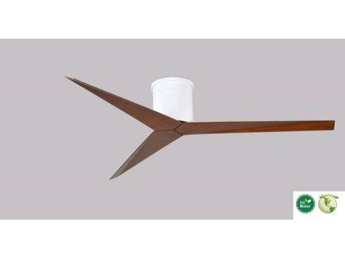 CASA BRUNO Eliza Hugger ventilador de techo Ø 142 cm, blanco / nogal