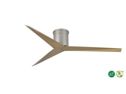CASA BRUNO Eliza Hugger ventilador de techo Ø 142 cm, niquel satinado / fresno gris