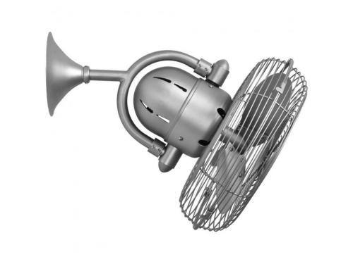 CASA BRUNO Kaye ventilador oscilante de pared y techo, níquel satinado
