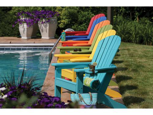 CASA BRUNO sillas Adirondack de colores vibrantes fabricadas en Poly-madera