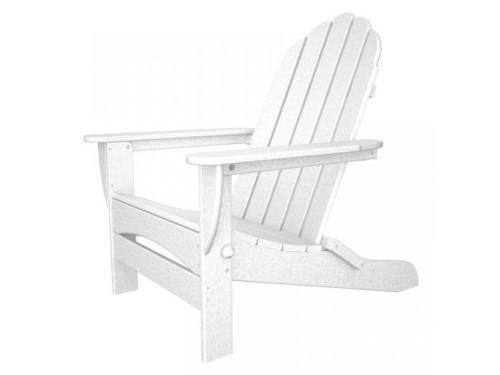 CASA BRUNO Classic Oversized silla Adirondack plegable, HDPE poly-madera. blanco