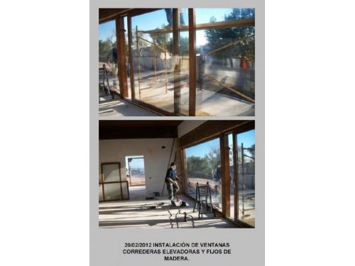 Instalacion ventanas elevadoras madera