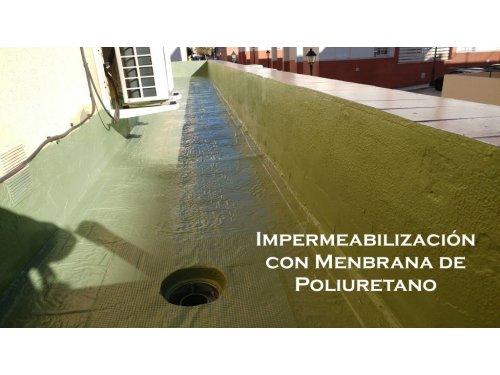 Impermeabilización con membrana de poliretano.