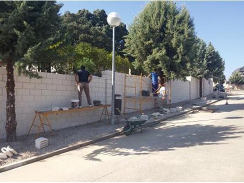 Obra civil: construcción de muro