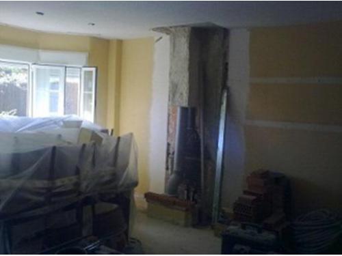 Reformas de interior: realización de chimenea