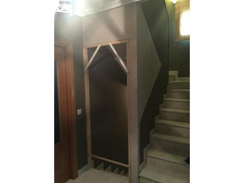 Pladur: cerramiento con pladur de escaleras