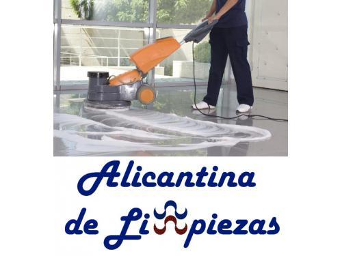 Cristalizado/Abrillantado de suelos. Alicantina de Limpiezas.