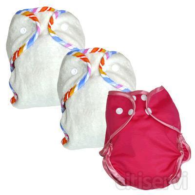 Este mes regalamos una bolsa de transporte de pañales con capacidad para 2 ó 3, impermeable, por la compra de pañales de tela el más barato