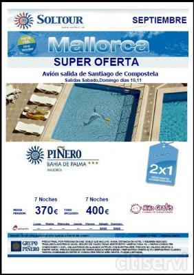 Palma de Mallorca desde Santiago en el hotel Piñeiro Bahía de Palma*** en media pensión o todo incluido.