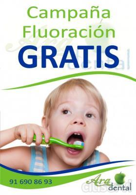 Limpieza, Fluorizaciones y revisiones gratuitas para los más pequeños.