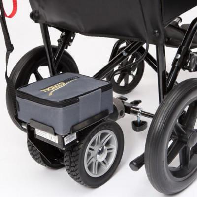 Poner un motor a la silla de ruedas es barato y muy fácil.Ayuda a empujar la silla sin esfuerzo. Es facil de poner y quitar. Tiene control de velocidad y indicador de carga de la bateria.