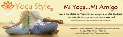 Ven a tus clases de Yoga con un amigo y los dos tendréis un 10% de descuento de vuestra cuota de Marzo
