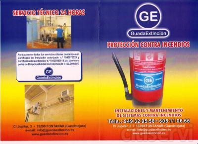 Especial extintores y bocas de incendio