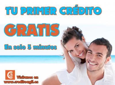 Consigue tu primer crédito con nosotros de hasta 300€ totalmente gratuito. Sin ningún tipo de gastos. Aprovecha esta increíble promoción y consigue tu dinero rápido GRATIS.