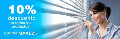 Cupón 10% de descuento en cortinas y estores