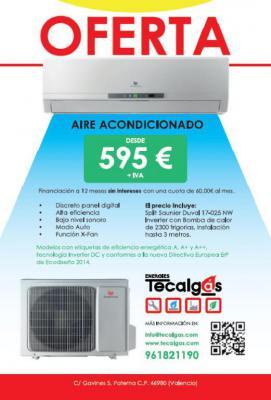 Split de aire acondicionado Saunier Duval SDH 17-025 de 2300 frigorías, instalación incluida hasta 3m