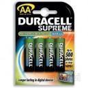 Las pilas NiMH recargables Duracell Supreme ofrecen la calidad y fiabilidad que los clientes esperan de Duracell.  Estas pilas AA de alto rendimiento (2450 mAh) son ideales para cámaras digitales y admiten 1000 cargas.  Permiten hacer hasta 4 veces má