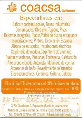 Hasta el mes de Julio, Coacsa Reformas, le hace la reforma SIN IVA.