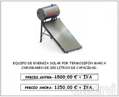 equipo de energia solar para agua caliente