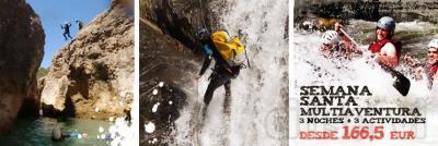 Especial Aventura. 3 noches + 3 actividades a escoger: - Descenso de Barranco con  - Descenso en Rafting por el río Ésera o Gállego. - A escoger: Circuito de Senderismo Auto-Guiado con Road-Book por el Valle del Río Vero o Paintball   Sólo 166,5