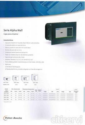 Nueva gama de cajas fuertes para empotrar. Ideal para particulares, construcción y pequeña empresa. Garantia Fichet