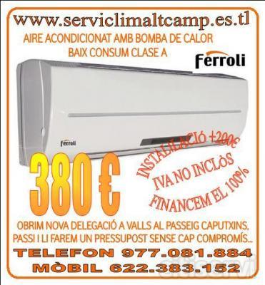 A/A FERROLI MONOSPLIT BOMBA DE CALOR BAJO CONSUMO PANTALLA LCD