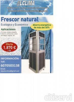Climatizador evaporativo para terrazas.hasta 120 m2