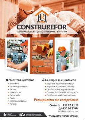 Te hacemos un descuento en cualquier trabajo relacionado con las construcción.