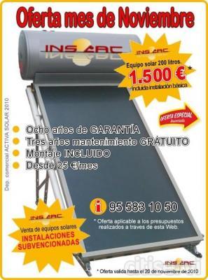Equipo e instalacion de placas solares para agua caliente - Placas solares agua caliente ...