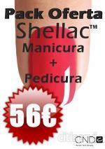 Hazte la Manicura completa Shellac + Pedicura Completa Shellac con Tan solo 56€.