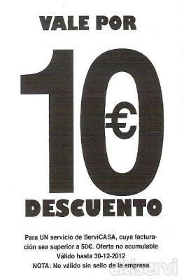 Por un servicio integral de limpieza cuya facturacion sea superior a 50€
