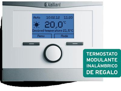 Del 10 de febrero al 30 de abril de 2014 (o hasta fin de existencias) consiga GRATIS un termostato calefacción modulante inalámbrico calorMATIC 350f ó 370f valorado en 220 € (IVA incluido. Precio tarifa 2014)con la instalación de una caldera de cond