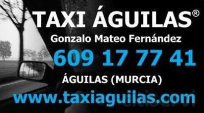 Descuento por la realización de un servicio de taxi desde Águilas a Murcia o a distintos sitios