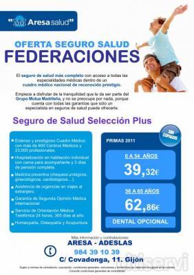 Oferta especial para Federados en cualquier deporte. Desde la compañía de salud del grupo Mutua Madrileña, os invitamos a cuidaros a fondo y recompensamos a los federados de cualquier disciplina deportiva con un precio excepcional en su seguro de salud