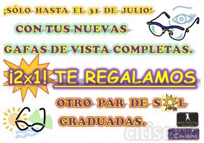 Al comprar tus nuevas gafas completas (con tratamiento antireflejos) TE REGALAMOS unas gafas de sol graduadas.