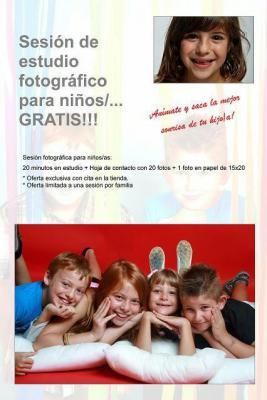 Sesión fotográfica para niños/as: 20 minutos en estudio + Hoja de contacto con 20 fotos + 1 foto en papel de 15x20 ¡Anímate y saca la mejor sonrisa de tu hijo/a