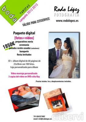 paquete básico [fotos] preparativos novia ceremonia posados recién casados banquete (hasta baile)   álbum digital de 60 páginas de 25x38cm con 100 fotos. 2 mini álbumes para padres 1 bolso