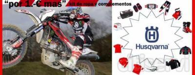 """Campaña """"por 1€ mas"""" Duración desde el 1 de mayo al 30 de Junio de 2012. Campaña para los modelos WR125, TE250, TE310 y TE449, año modelo 2012 Se hará entrega del siguiente kit de ropa y complementos:  * Kit Racing Team: Botas de Enduro"""