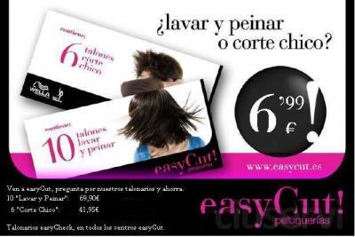 easyCheck (lavar y peinar o corte caballero 6,99€)