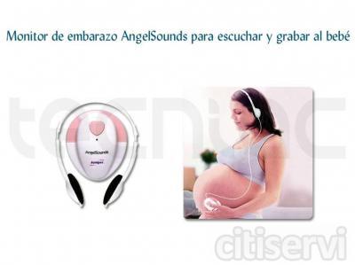 No esperes a que nazca tu bebé para escucharle. Con este monitor puedes oír y grabar sus primeros movimientos, hipos, patadas, golpes y latidos del corazón. ¡Compártelo con tus familiares y con él cuando sea mayor!  /  Color único: rosa y blanco.