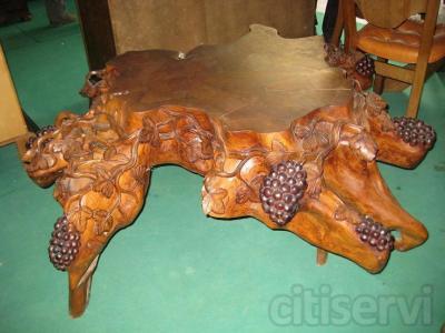 Original mesa de centro detalle vi as ra z de teca for Tu mueble benavente