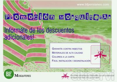Utilizando BF • MOSQUITERAS, se evita la utilización de productos químicos que pueden llegar a ser molestos manteniendo la pureza del ambiente.  La mosquitera permite la ventilación de su estancia y una óptima visibilidad del exterior a través de