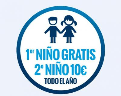 Dos niños gratis durante todo el año 2012.