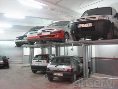 Plataforma elevadora dependiente 2 vehículos Para techos de 3.20 m y 3.60 m 2.30-5.00-3.20/3.60