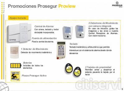 Prosegur Proview es el nuevo Sistema de Alarma con vídeo detección que permite verificar, a través de imágenes, los saltos de alarma que se producen en la vivienda.  Alerta Anti-inhibiciones   Nuestra Central Receptora de Alarmas comprueba el esta